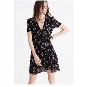 Madewell Posy Floral Ruffle Dress Size 6